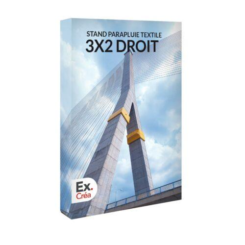 STAND PARAPLUIE 3X2D PRINC 500x500 - STAND PARAPLUIE TEXTILE 3x2 DROIT