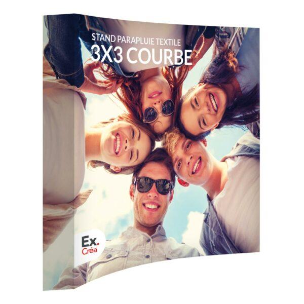 STAND PARAPLUIE 3X3C PRINC 600x600 - STAND PARAPLUIE TEXTILE 3x3 COURBE