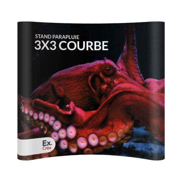STAND PARAPLUIE COURBE 3X3 PRINC 600x600 - STAND-PARAPLUIE 3x3 PVC COURBE