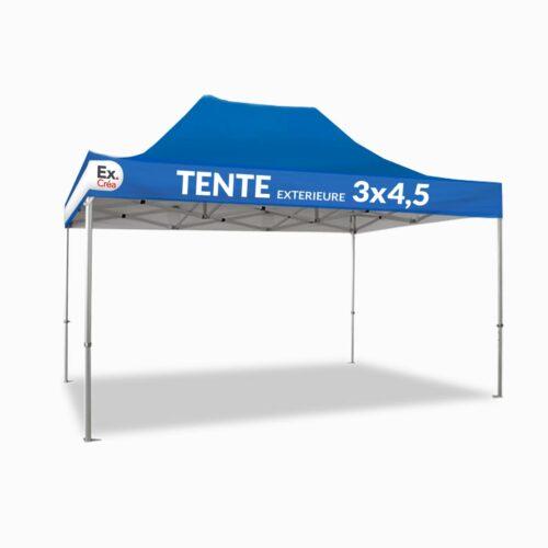 TENTE EXTERIEURE 3x45 TOIT BLEU 500x500 - TENTE PLIABLE  3x4,5m