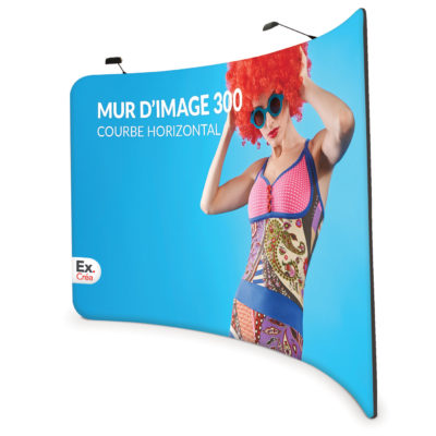 Formulate Curved Horizontal 300 400x400 - MUR D'IMAGE COURBE HORIZONTAL 600 cm