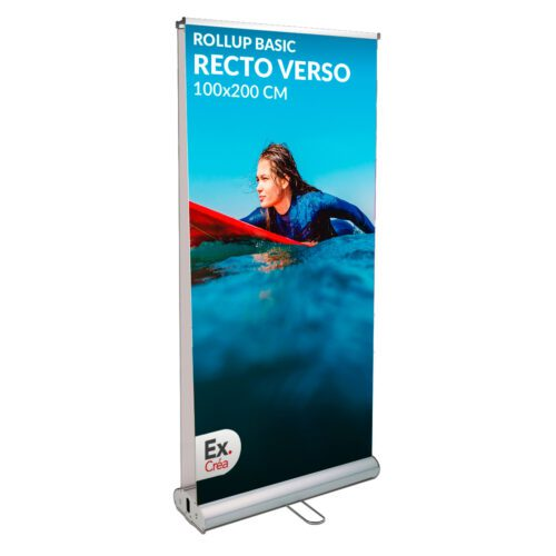 roll up recto verso 100x200 500x500 - ROLLUP BASIC R°/V° 100x200 cm