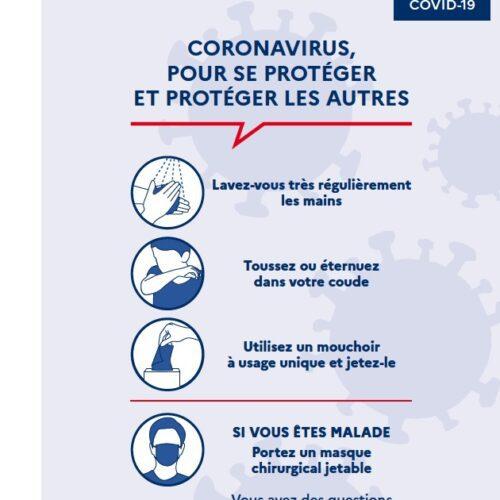 Coronavirus PANNEAU 500x500 - PANNEAU CORONAVIRUS / COVID-19 FORMAT A4 / A3
