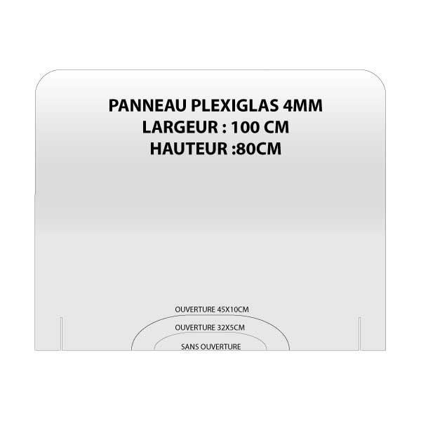 PANO 100X80 600x600 - PANNEAU PLEXIGLAS ANTI-PROJECTION